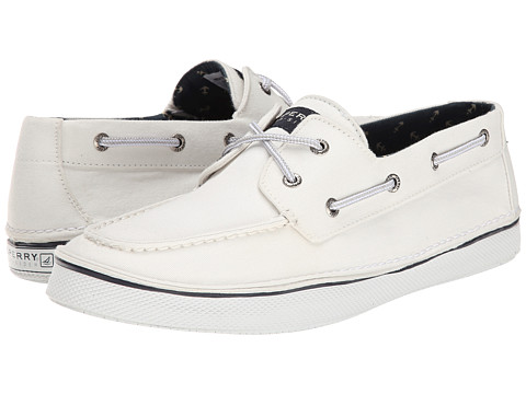 Sperry Top-Sider - Cruz 2-Eye SW Canvas (White) Men