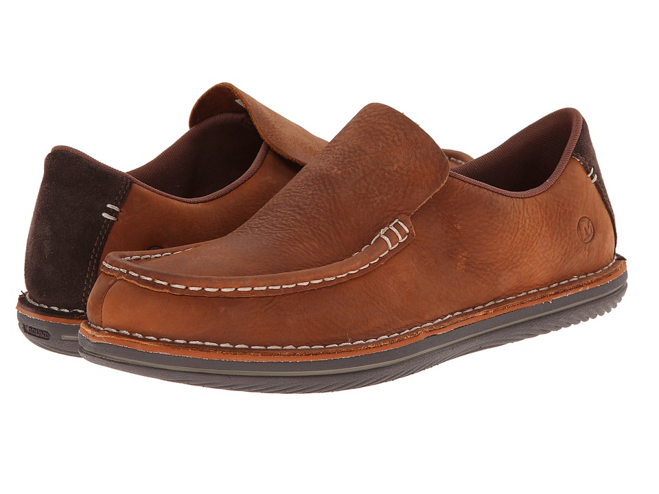 Merrell - Bask Moc (Clay) Men's Slip on Shoes