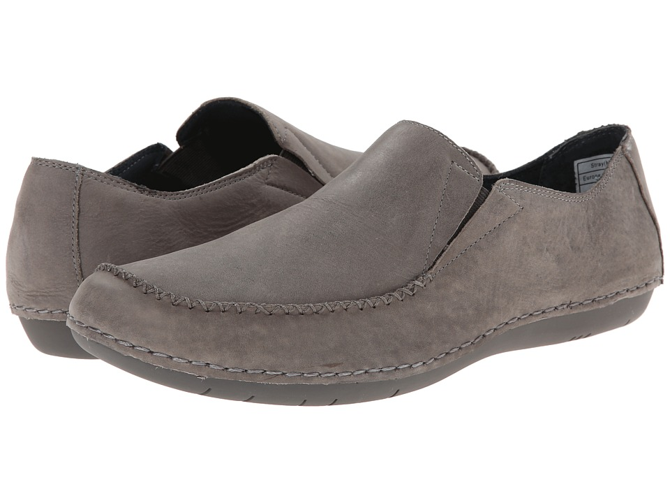NoSoX by Deer Stags - Stray (Grey Waxy Leather) Men's Slip on Shoes