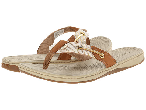 Sperry Top-Sider - Seafish Marinier Stripe (Cognac/Gold) Women's Sandals