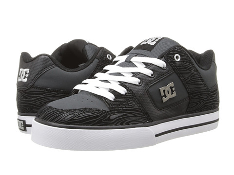 DC - Pure XE (Grey/Black/Grey) Men's Skate Shoes