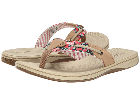 Sperry Top-Sider - Seafish Liberty (Linen/Washed Red) Women's Sandals