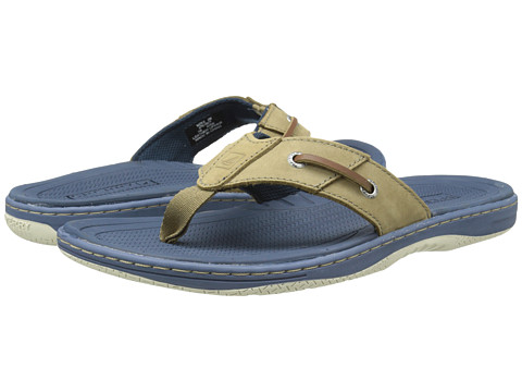 Sperry Top-Sider - Baitfish Thong (Grey/Navy) Men's Sandals