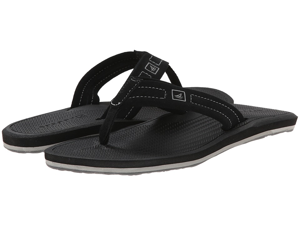 Sperry Top-Sider - Sharktooth Thong (Black 1) Men