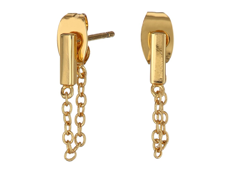 gorjana - Mave Chain Loop Earrings (Gold) Earring