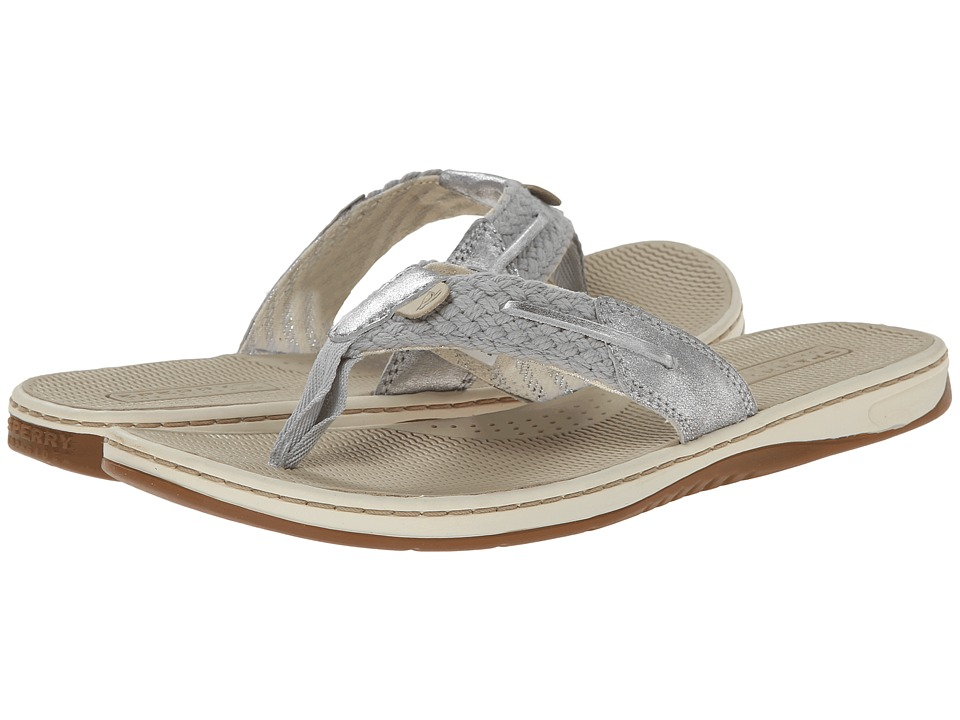 Sperry Top-Sider - Parrotfish Metallic Kid Suede (Grey/Silver) Women's Sandals