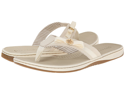 Sperry Top-Sider - Serenafish Grosgrain Bow (Ivory/Charcoal) Women's Sandals
