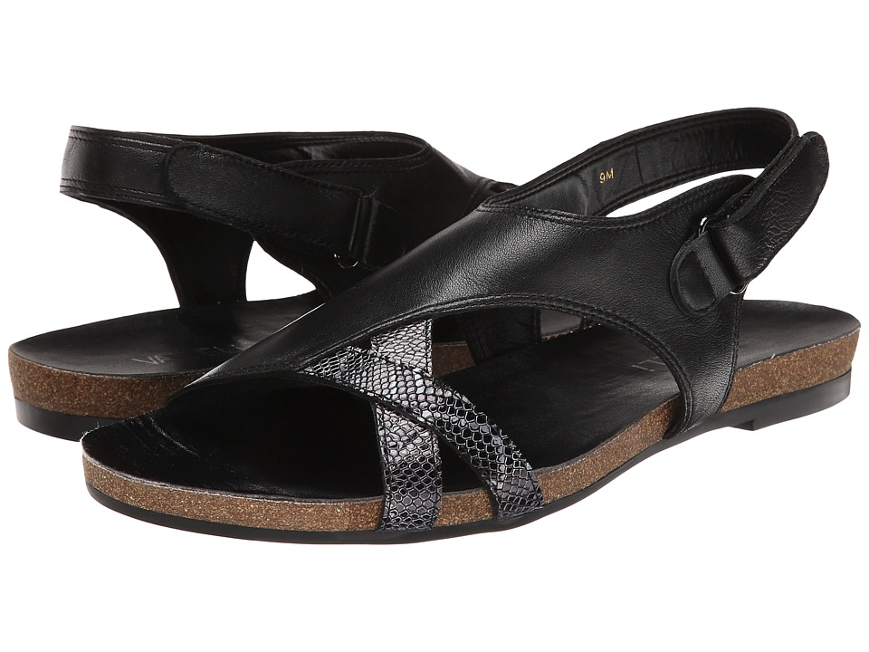 Vaneli - Bernita (Black Nappa/Black Darry Print/Gunmetal Ring) Women's Shoes