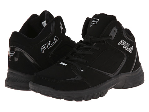 Fila - Shake N Bake 3 (Black/Black/Metallic Silver) Men's Basketball Shoes