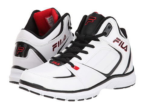Fila - Shake N Bake 3 (White/Black/Fila Red) Men
