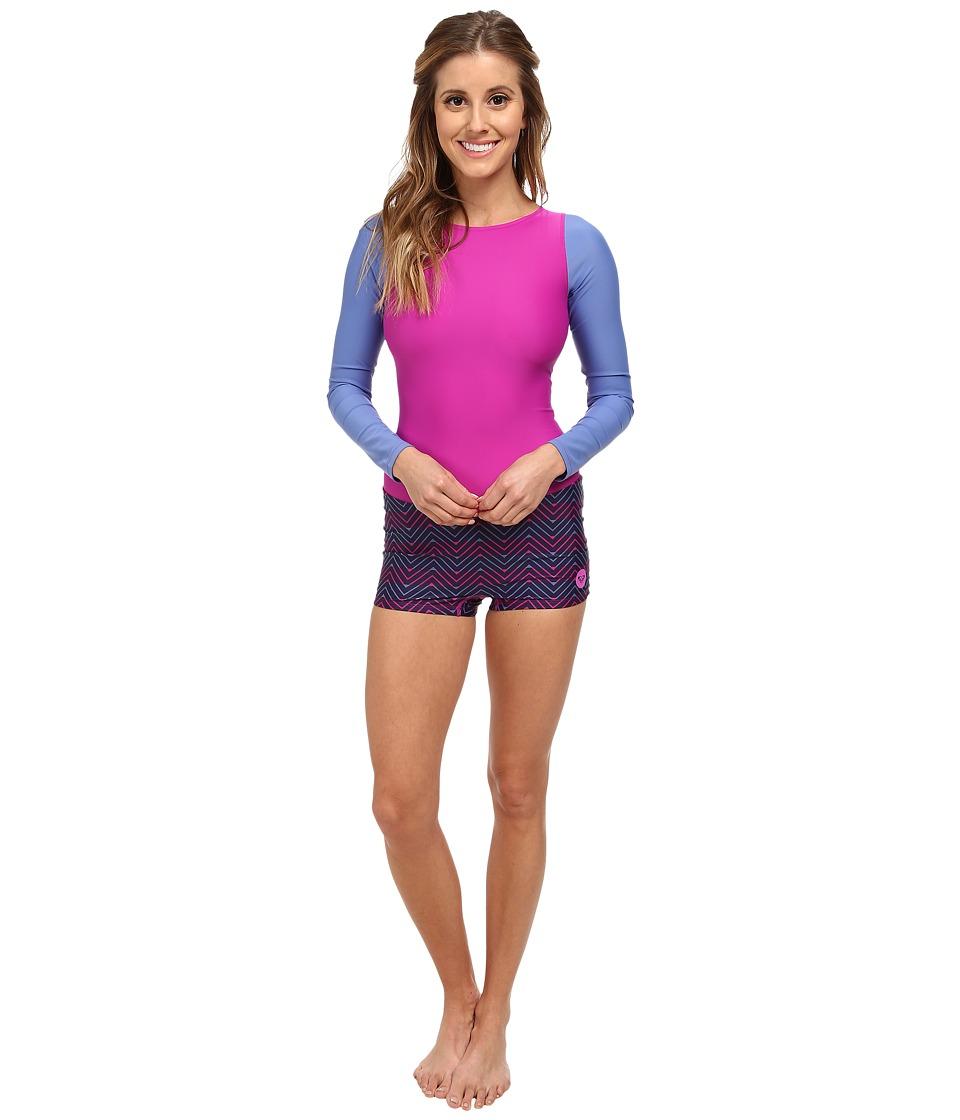 Roxy Outdoor - Spring It On Rashguard (Chambray 2) Women's Swimwear