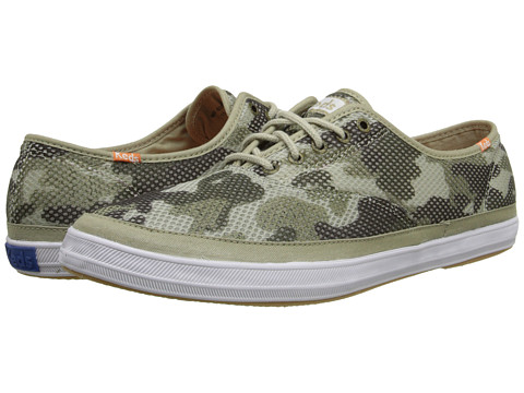Keds - Champion Mesh (Green Camo Print) Men's Lace up casual Shoes