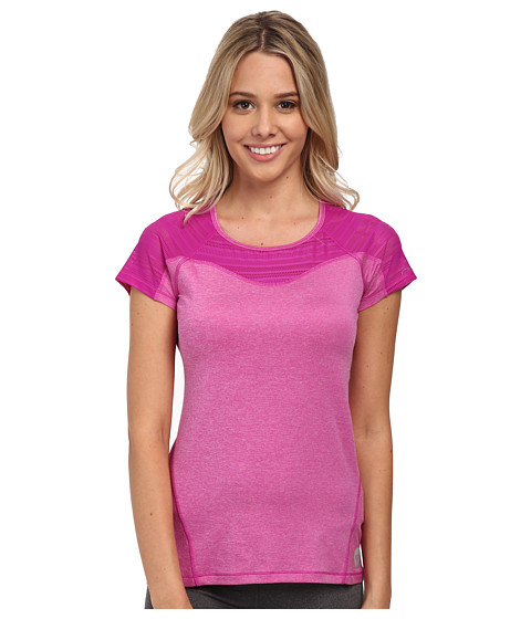 Roxy - Double Time S/S Top (Bright Orchid Heather) Women's Clothing