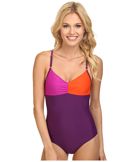 Roxy Outdoor - Fast Start One Piece (Blackberry) Women's Swimsuits One Piece
