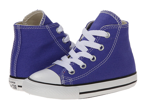 Converse Kids - Chuck Taylor All Star Hi (Infant/Toddler) (Periwinkle) Girls Shoes