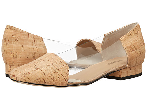 Vaneli - Farren (Clear Vinyl/Natural Cork) Women's Slip-on Dress Shoes