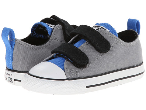 Converse Kids - Chuck Taylor All Star 2V Ox (Infant/Toddler) (Dolphin/Light Sapphire/Black) Boys Shoes
