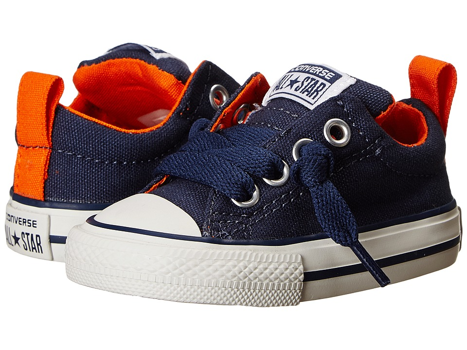 Converse Kids - Chuck Taylor All Star Street Slip (Infant/Toddler) (Navy/Papaya/White) Boy's Shoes