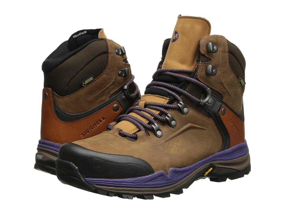 Merrell - Crestbound GORE-TEX(r) (Brown Sugar/Purple) Women's Hiking Boots