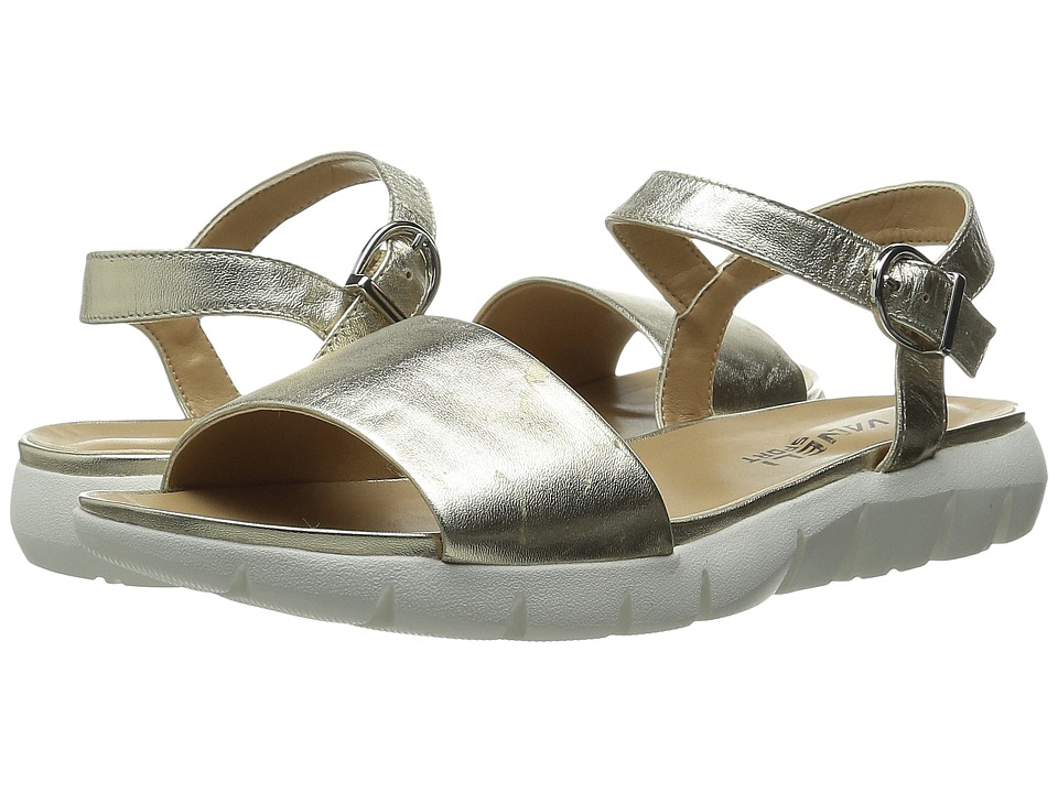 Vaneli - Kathie (Platino Metallic Nappa/Gold Buckle) Women's Shoes