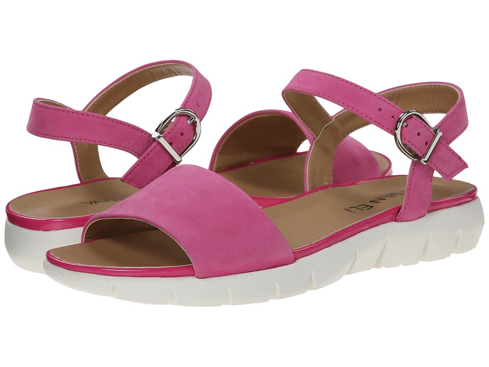 Vaneli - Kathie (Fuchsia Soft Nabuk/Match Ferns Patent/Silver Buckle) Women's Shoes