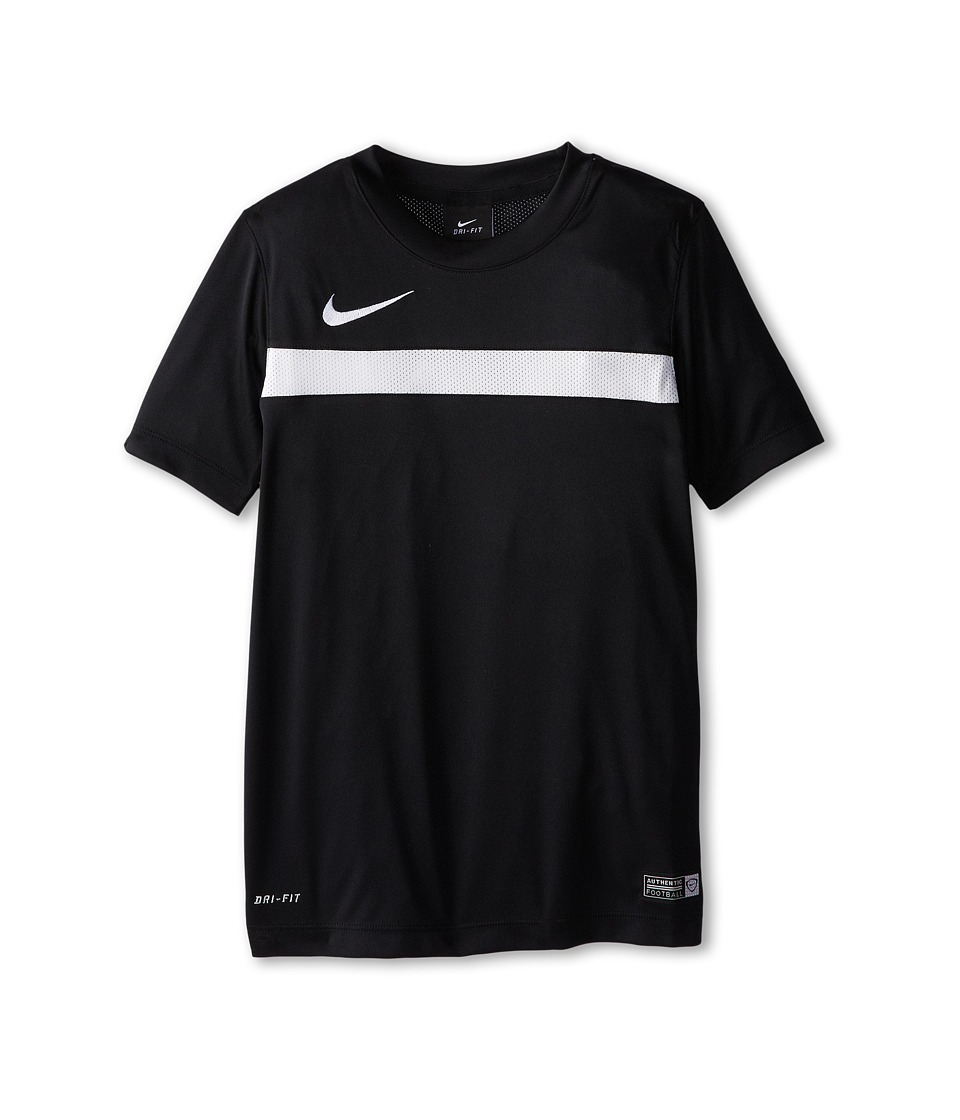 Nike Kids - Dry Academy Short Sleeve Training Shirt (Little Kids/Big Kids) (Black/White/Black/White) Boy's Short Sleeve Pullover