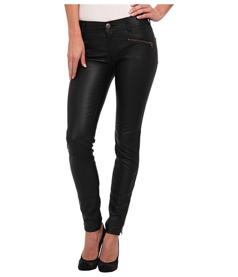 Free People - Vegan Leather Skinny Pant (Black) Women's Casual Pants