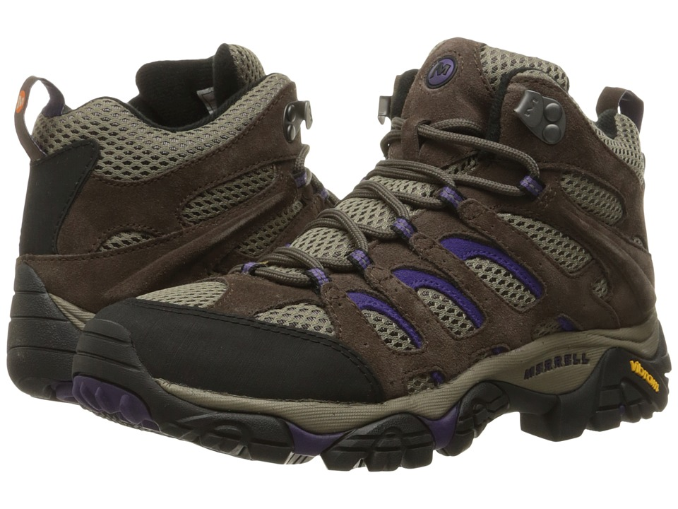 Merrell - Moab Ventilator Mid (Bracken/Purple) Women's Hiking Boots