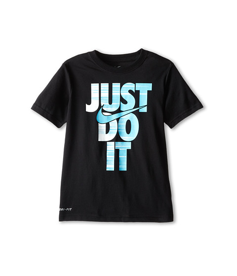 Nike Kids - Training Just Do It Tee (Little Kids/Big Kids) (Black/Black) Boy's T Shirt
