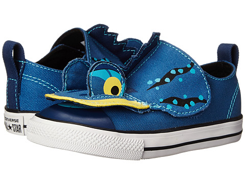 Converse Kids - Chuck Taylor All Star Creatures Ox (Infant/Toddler) (Ocean/Midnight Hour/Black) Boys Shoes
