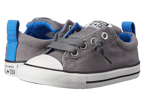 Converse Kids - Chuck Taylor All Star Street Slip (Infant/Toddler) (Mason/Black/Light Sapphire) Boy