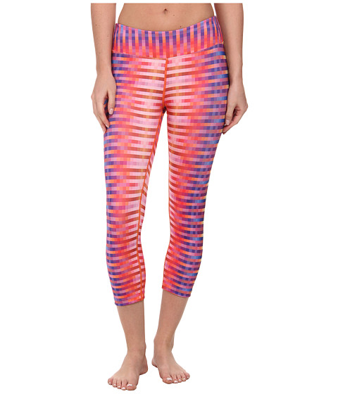 Prana - Roxanne Capri (Orange Pixel) Women's Capri