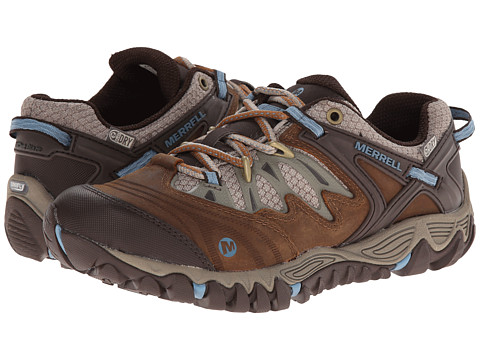 Merrell - Allout Blaze Waterproof (Brown Sugar/Blue Heaven) Women