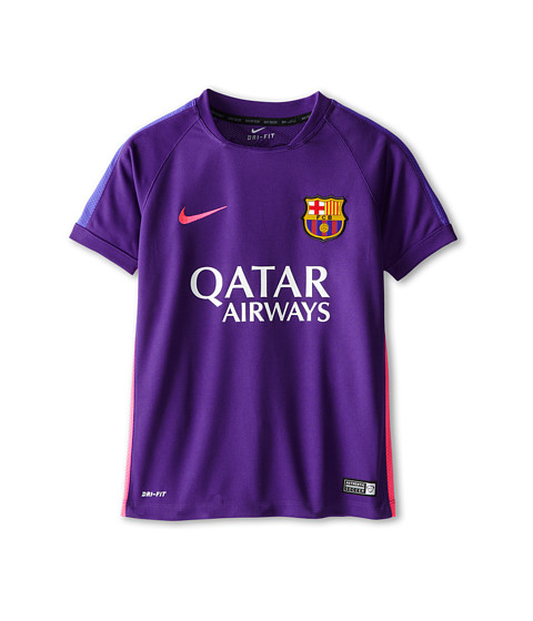 Nike Kids - FCB Squad S/S Training Top 2 (Little Kids/Big Kids) (Court Purple/Court Purple/Hyper Pink) Boy