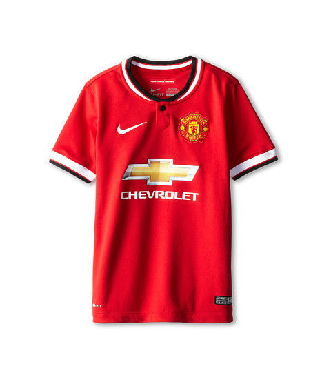 Nike Kids - MANU S/S Home Stadium Jersey (Little Kids/Big Kids) (Diablo Red/Football White/Football White) Boy