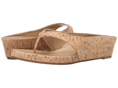 Vaneli - Klemens (Natural/Gold Leol Cork) Women's Wedge Shoes