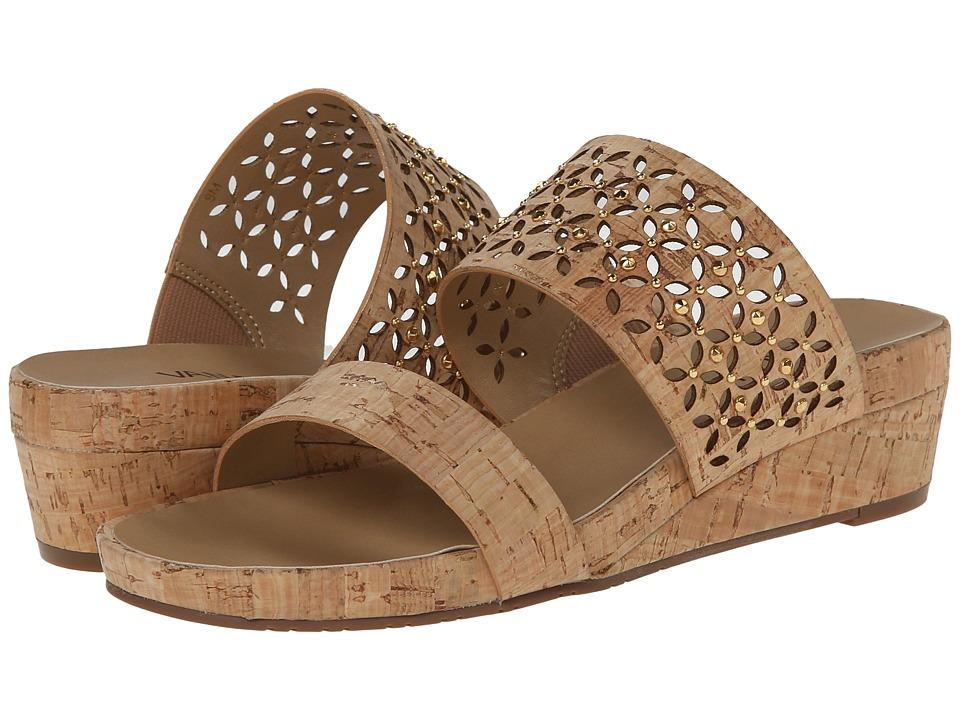 Vaneli - Kirima (Natural Cork/Gold Nails) Women's Sandals