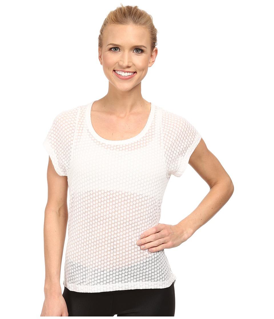Prana - Cherish Top (White) Women's Short Sleeve Pullover