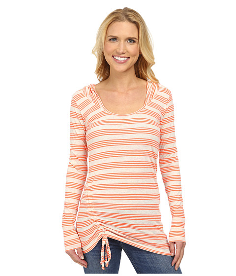 Prana - Vinyasa Hoodie (Glowing Coral) Women's Sweatshirt
