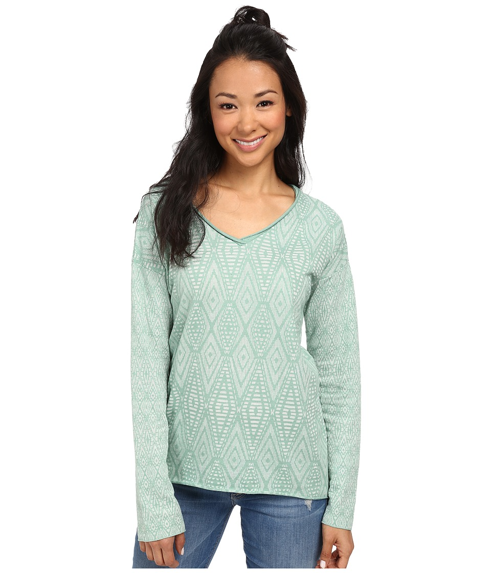 Prana - Strata Top (Dusty Turquoise) Women's Long Sleeve Pullover