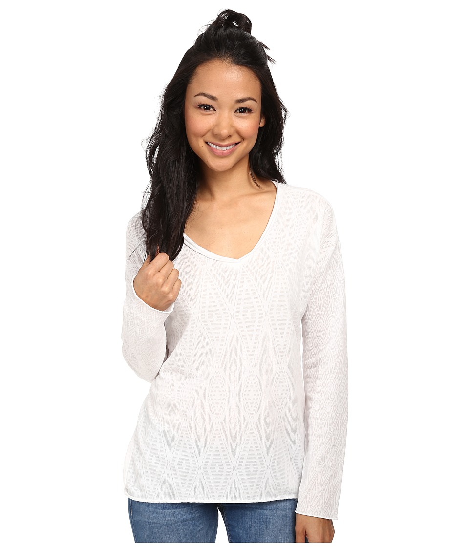 Prana - Strata Top (White) Women's Long Sleeve Pullover