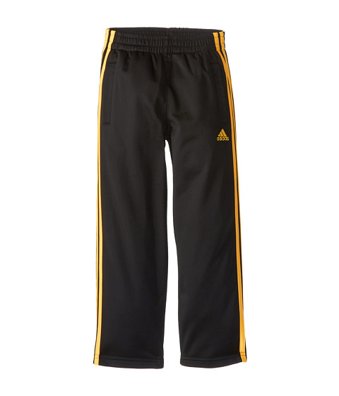 adidas Kids - Impact Tricot Pant (Toddler/Little Kids) (Black w/ Solar Gold) Boy's Casual Pants