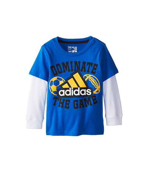 adidas Kids - Dominate The Game L/S Tee (Toddler/Little Kids) (Super Blue) Boy
