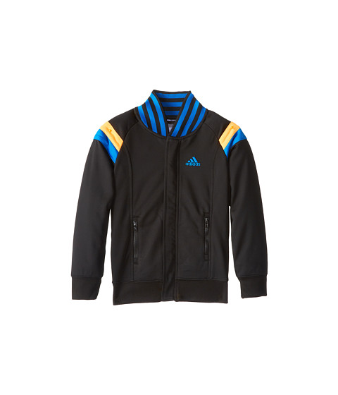 adidas Kids - Anthem Court Jacket (Toddler/Little Kids) (Black w/ Super Blue) Boy