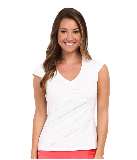 Fila - Collezione Cap Sleeve Top (White) Women's Short Sleeve Pullover