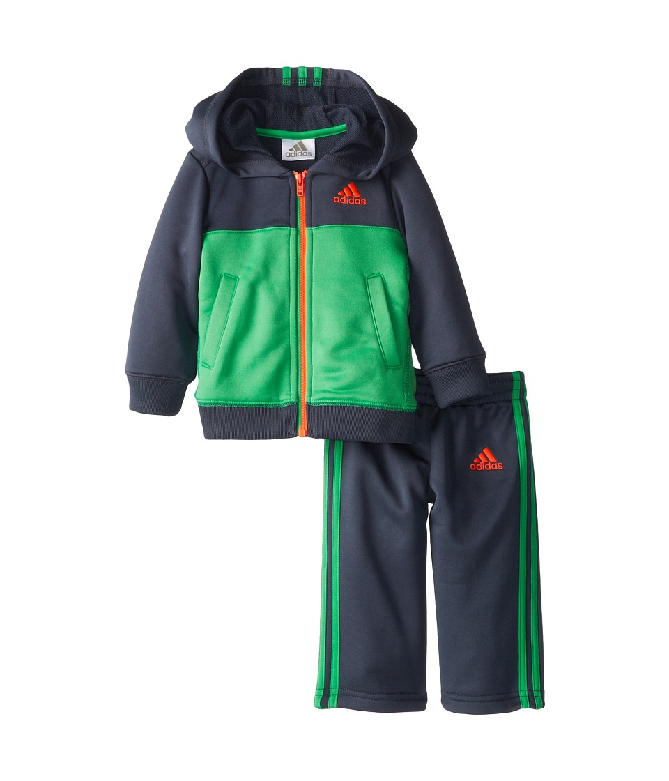 adidas Kids - Climawarm Block Set (Infant) (Lucid Green) Boy's Active Sets