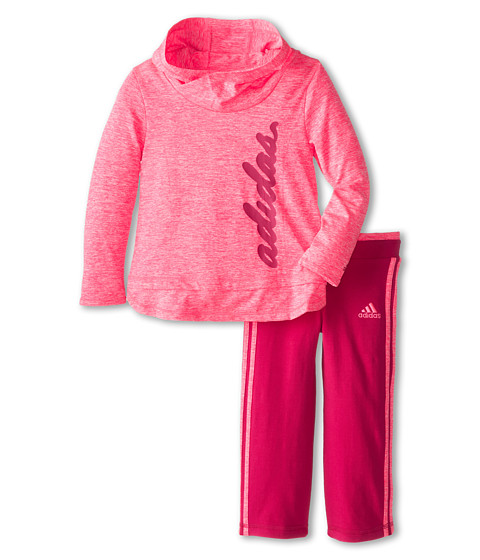 adidas Kids - Hoodie Workout Set (Infant) (Solar Pink) Girl
