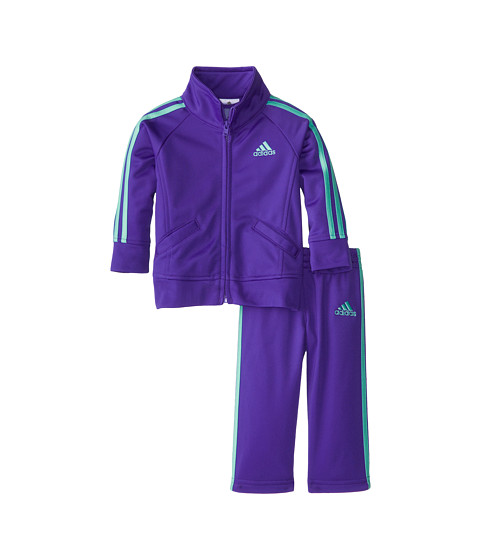 adidas Kids - Fashion Tricot Set (Infant) (Simply Purple) Girl's Workout Sets