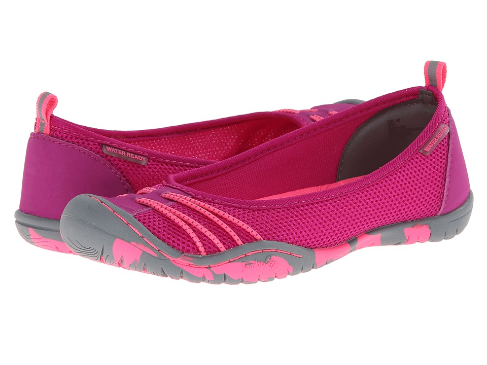 Jambu Kids - Spin (Toddler/Little Kid/Big Kid) (Purple/Neon Pink) Girl's Shoes