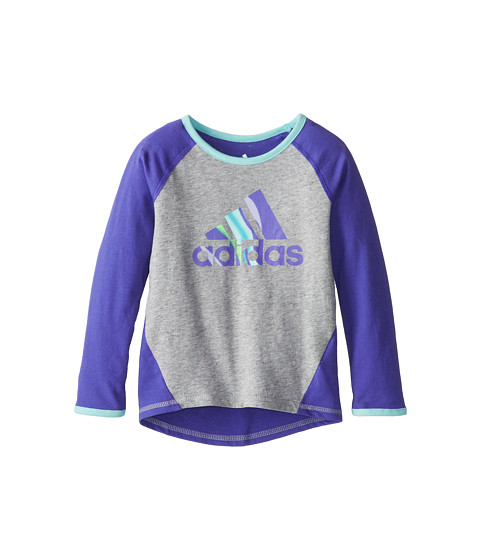 adidas Kids - Kick Back Raglan (Toddler/Little Kids) (Simply Purple) Girl